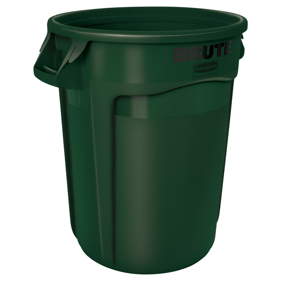 Shop Rubbermaid Commercial Products Vented 32 Gallon Green