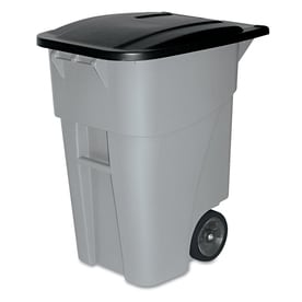 0451a299171 Rubbermaid Commercial Products Brute 50-Gallon Gray Plastic Commercial  Outdoor Wheeled Trash Can with Lid
