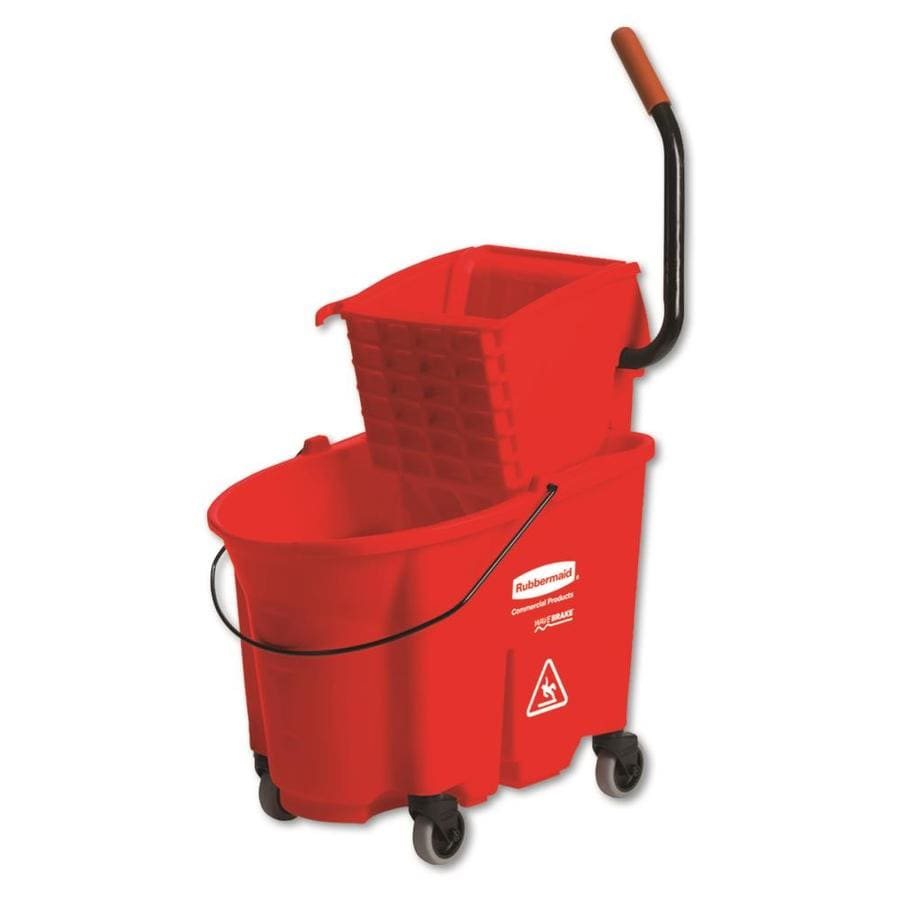 rubbermaid commercial products wavebrake 875gallon commercial mop wringer bucket with wheels