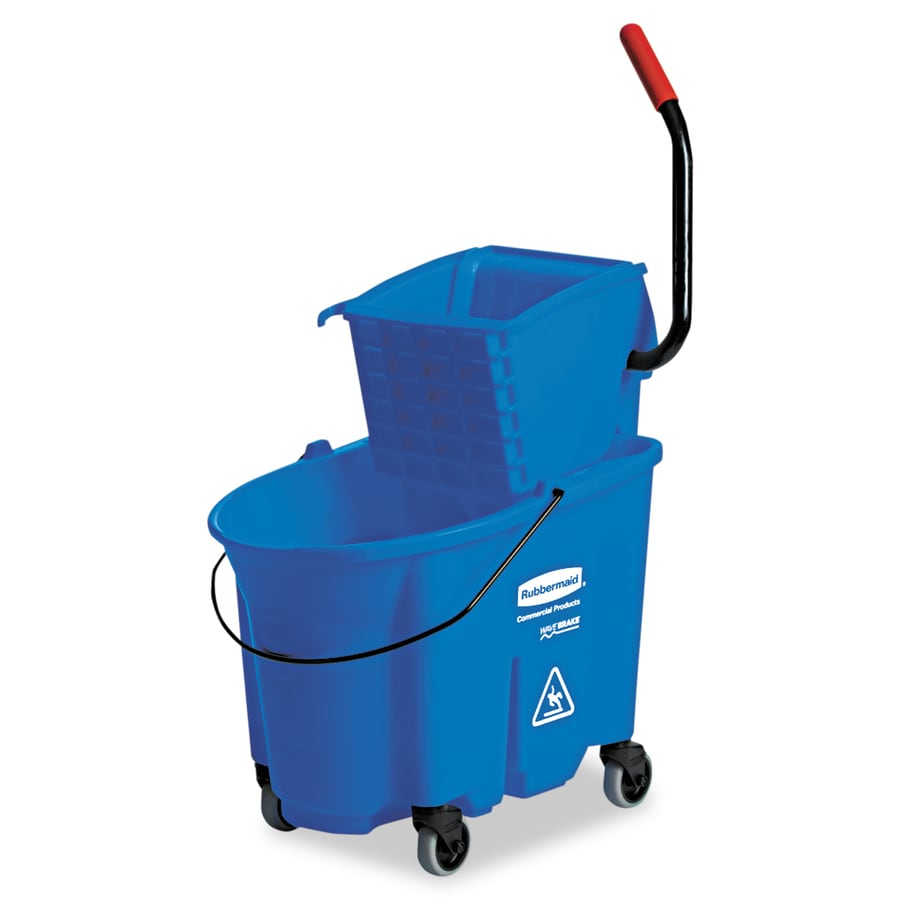 Rubbermaid Commercial Products WaveBrake 35-Quart Commercial Mop Wringer Bucket with Wheels