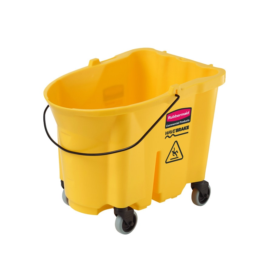 Rubbermaid Commercial Products WaveBrake 8.75-Gallon Commercial Mop Wringer Bucket with Wheels