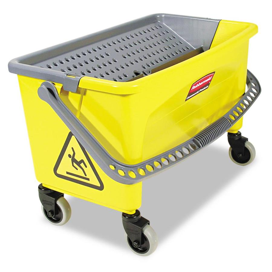 Rubbermaid Commercial Products 16.1-in L x 26.2-in W x 15.5-in D Yellow Plastic Mop Service Basin