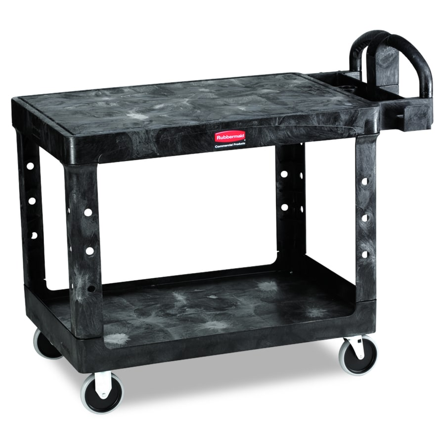 Go Home Black Industrial Kitchen Cart At Lowes Com: Shop Rubbermaid Commercial Products 33.3-in 0-Drawer