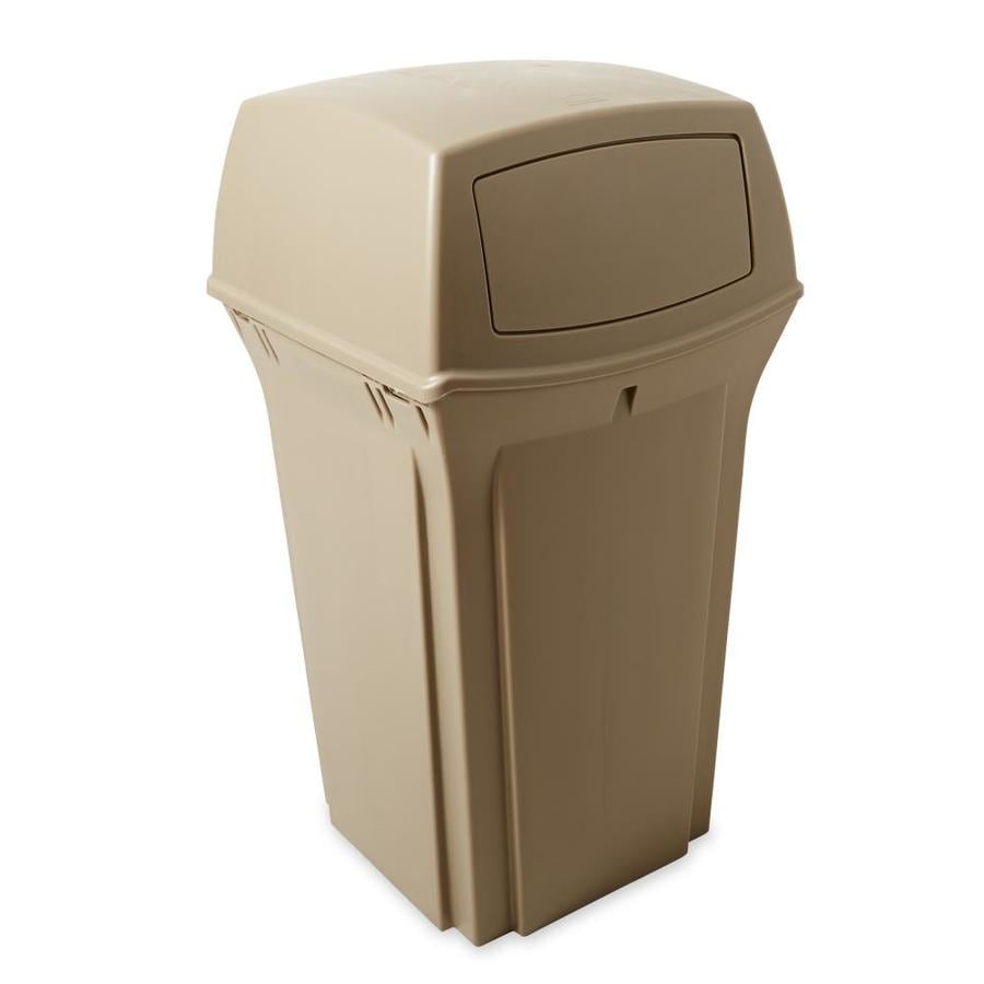 Shop Rubbermaid Commercial Products Ranger 35Gallon Beige Plastic