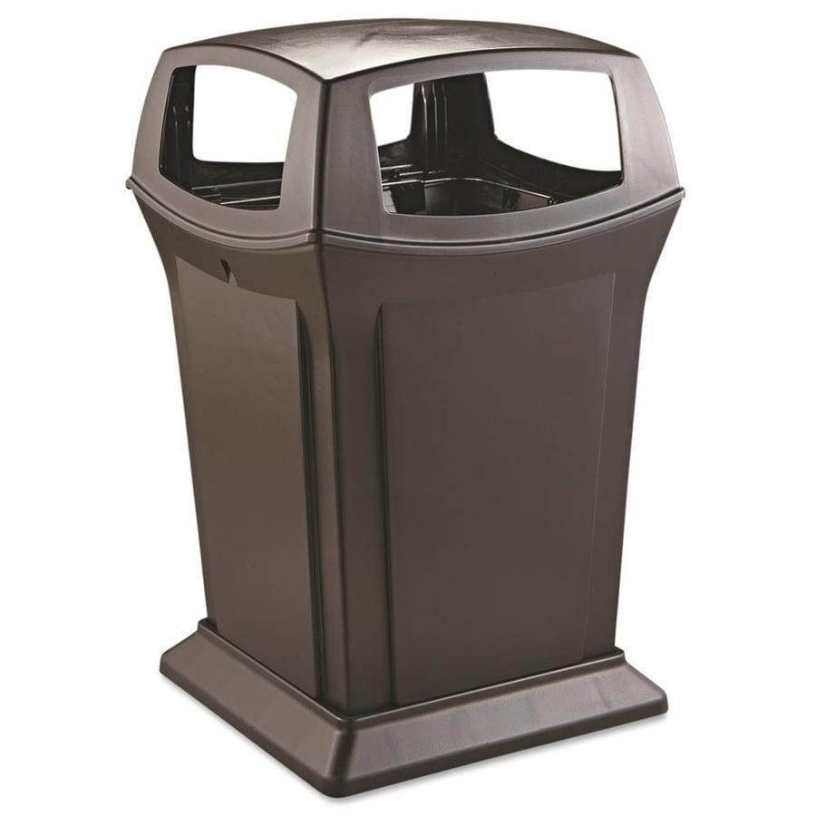 Shop rubbermaid commercial products ranger 45 gallon black for Commercial bathroom trash cans