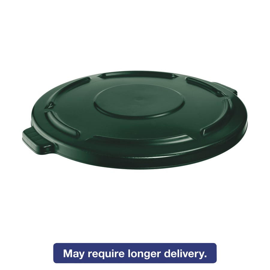Rubbermaid Commercial Products Green Plastic Outdoor Trash Can Lid