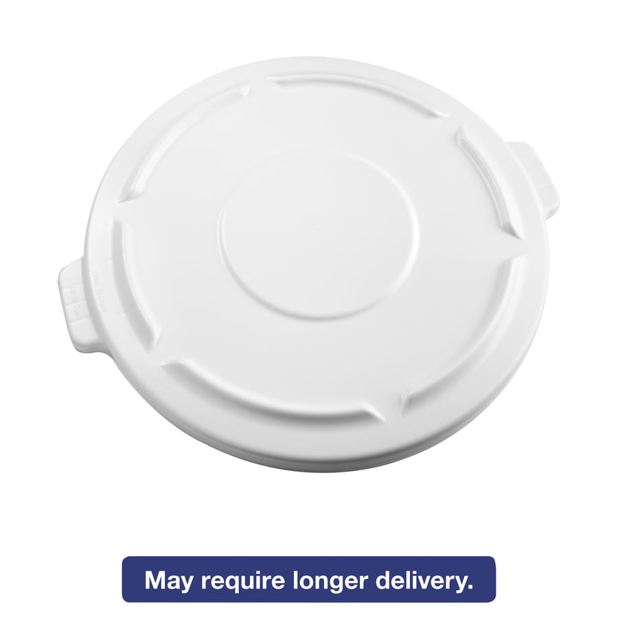 Rubbermaid Commercial Products White Plastic Outdoor Trash Can Lid