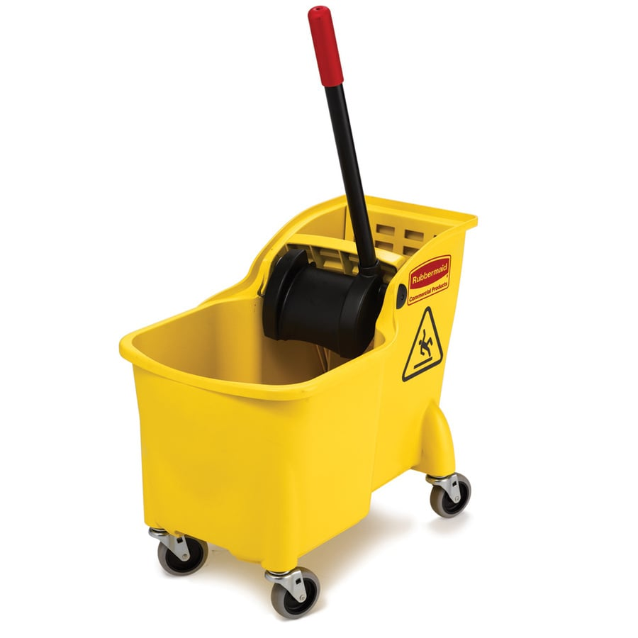Rubbermaid Commercial Products 31-Quart Commercial Mop Wringer Bucket with Wheels