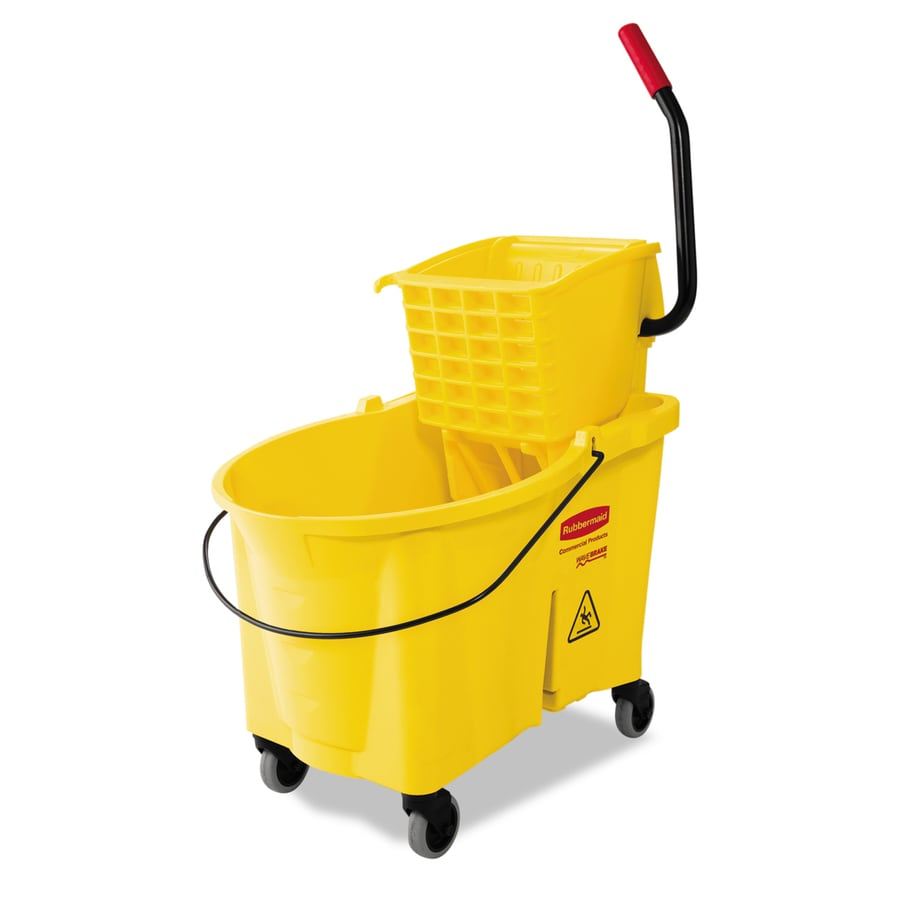 Rubbermaid Commercial Products WaveBrake 44-Quart Commercial Mop Wringer Bucket with Wheels