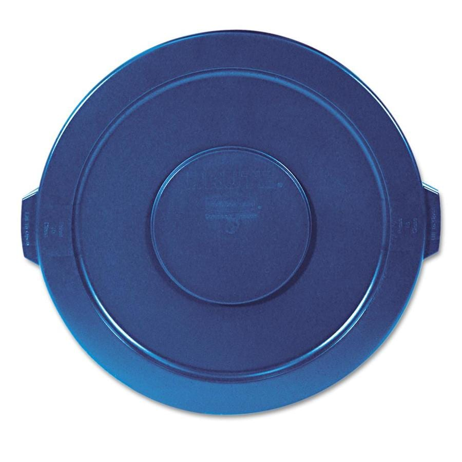 Rubbermaid Commercial Products Blue Plastic Outdoor Trash Can Lid