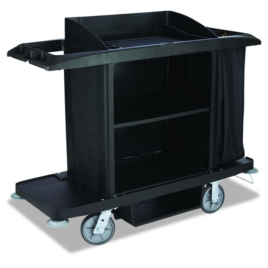 Go Home Black Industrial Kitchen Cart At Lowes Com: Shop Rubbermaid Commercial Products 50-in 0-Drawer Utility