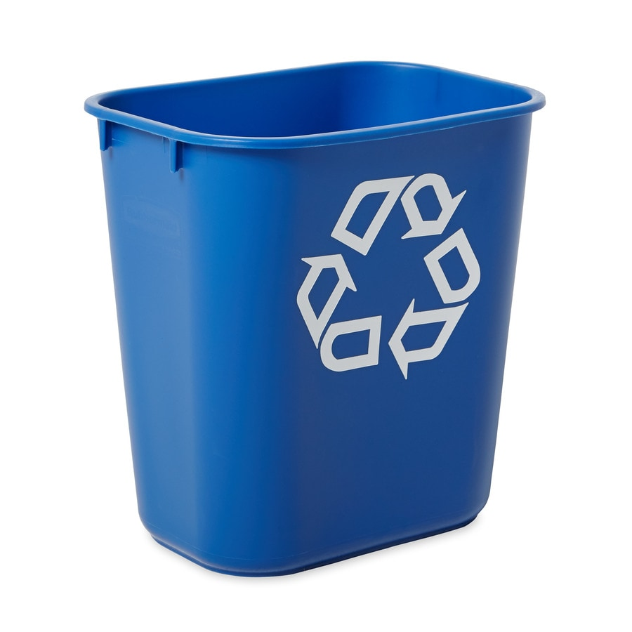 Rubbermaid Commercial Products 1 3.4-Gallon Blue   Recycling Bin