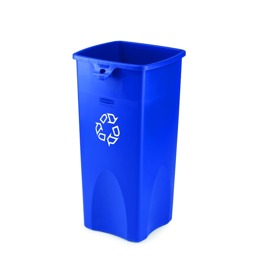 Rubbermaid Commercial Products Untouchable 23-Gallon Blue Recycling Bin