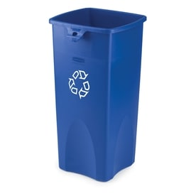 Rubbermaid Commercial Products Untouchable 23 Gallon Blue Recycling Bin