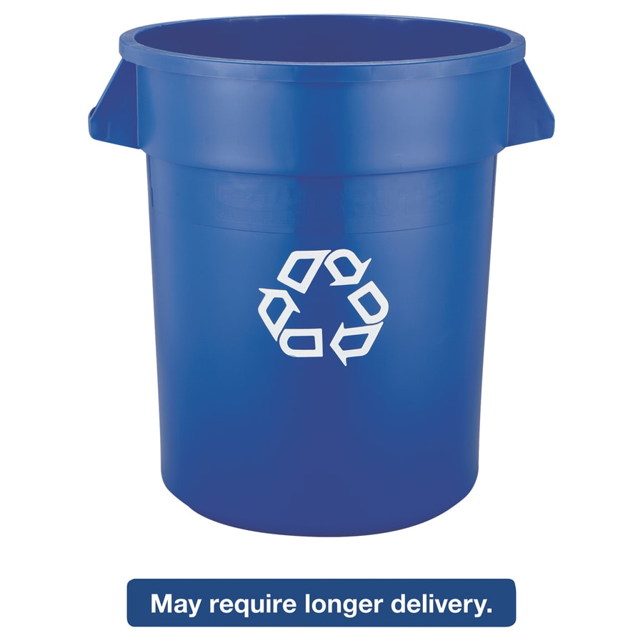 Rubbermaid Commercial Products Brute 20-Gallon Blue Commercial Recycling Bin
