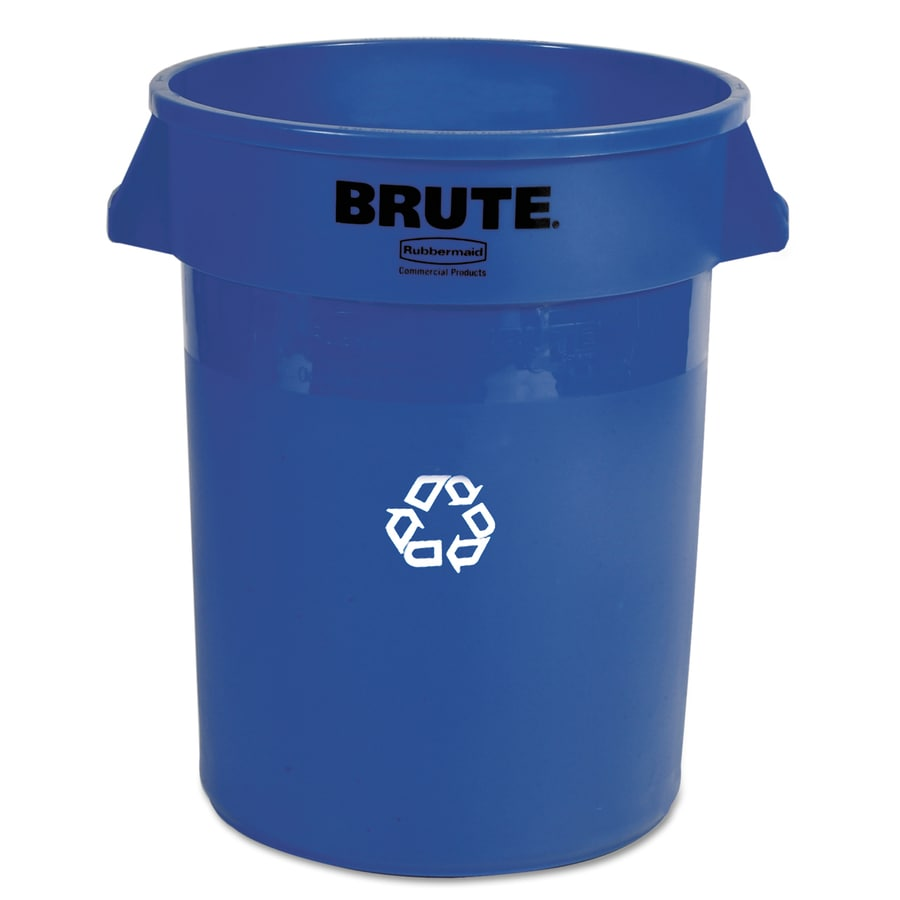 Rubbermaid Commercial Products Brute 1 32-Gallon Blue Commercial Indoor/Outdoor Recycling Bin