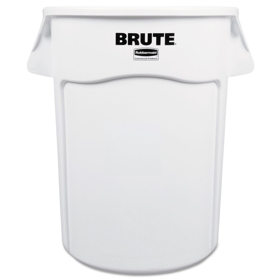 Rubbermaid Commercial Products Brute 44-Gallon White Plastic   Touchless Trash Can