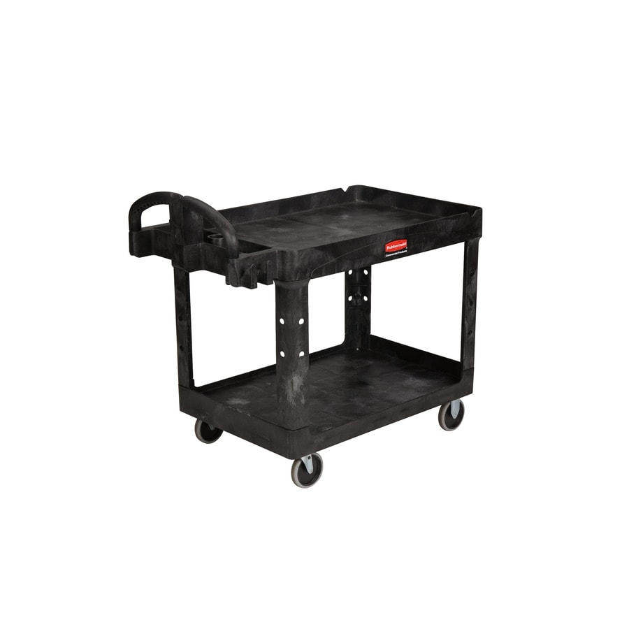 Go Home Black Industrial Kitchen Cart At Lowes Com: Shop Rubbermaid Commercial Products 33.25-in Utility Cart