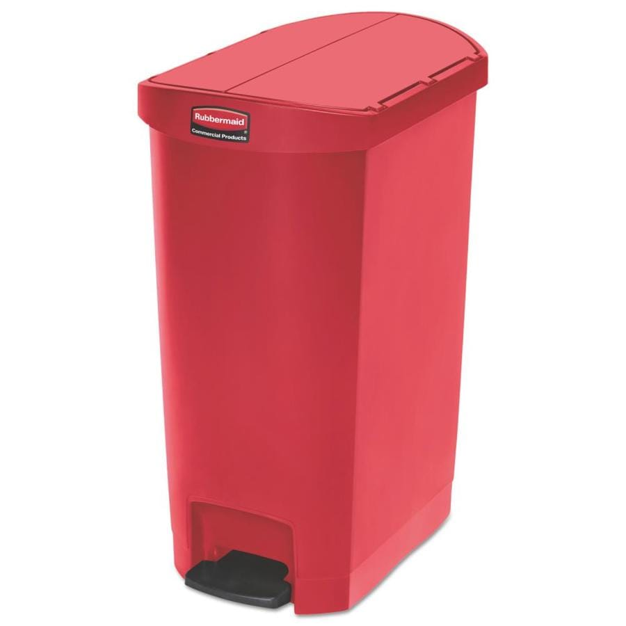 Rubbermaid Commercial Products Slim Jim 13 Gallon Red Plastic