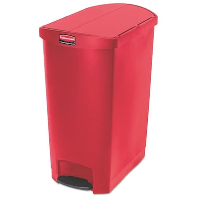 Rubbermaid Commercial Products Slim Jim 24-Gallon Red ...