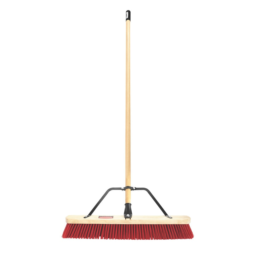 Rubbermaid Commercial Products 24-in Poly Fiber Stiff Push Broom