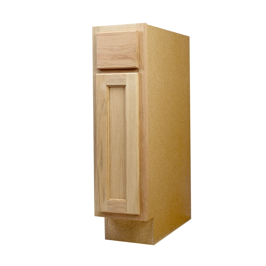 Shop Continental Cabinets Inc 9 In W X 34 5 In H X 24 In D Unfinished Oak Door And Drawer Base