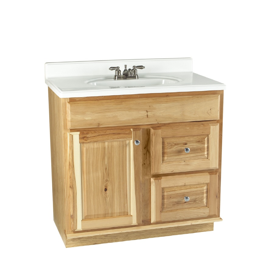 "allen + roth 36"" Natural Carson Hickory Natural Bath Vanity"