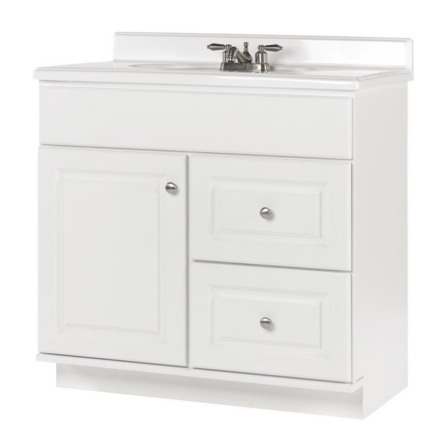 allen + roth Castlebrook White Bathroom Vanity (Actual: 36-in x 21-in)