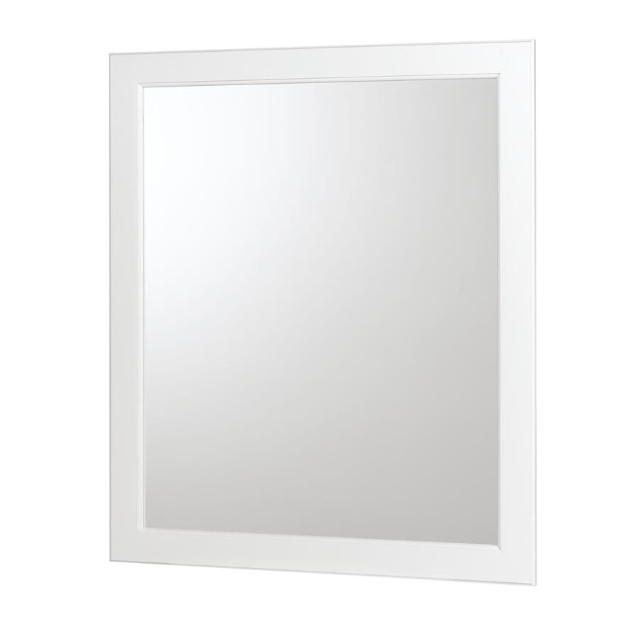 allen + roth Castlebrook White 36-in W x 30-in H White Rectangular Bathroom Mirror
