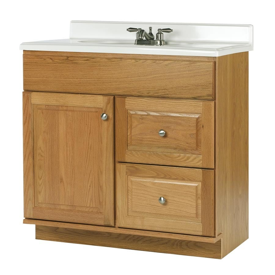 allen + roth Castlebrook Honey Traditional Bathroom Vanity (Actual: 36-in x 21-in)