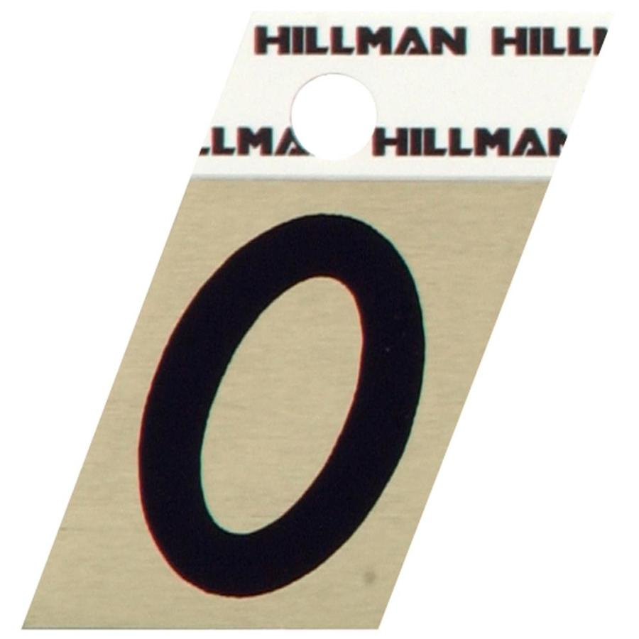 Hillman 1.5-in Black and Gold House Number 0