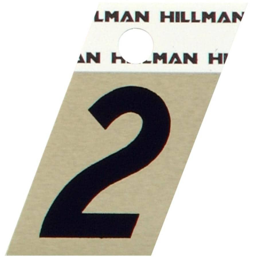 Hillman 1.5-in Black and Gold House Number 2