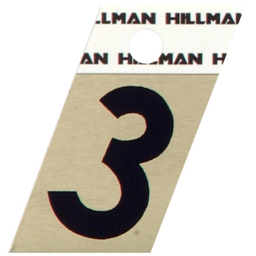The Hillman Group 1.5-in Black and Gold House Number 3