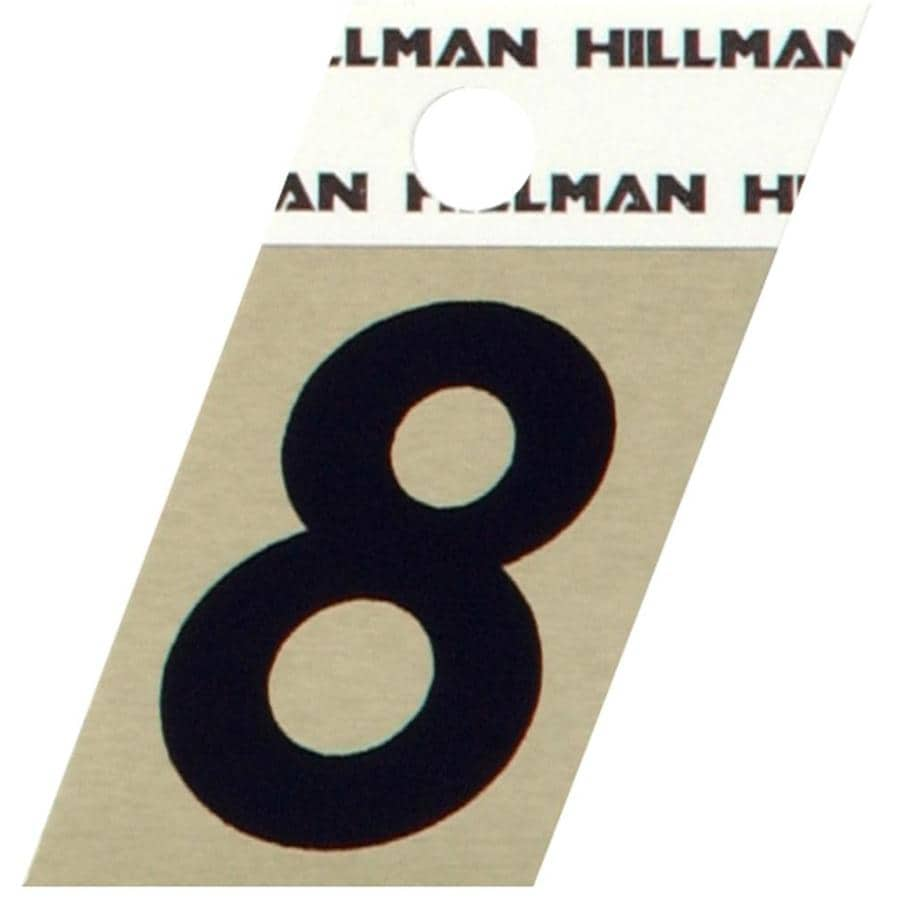 Hillman 1.5-in Black House Number #8
