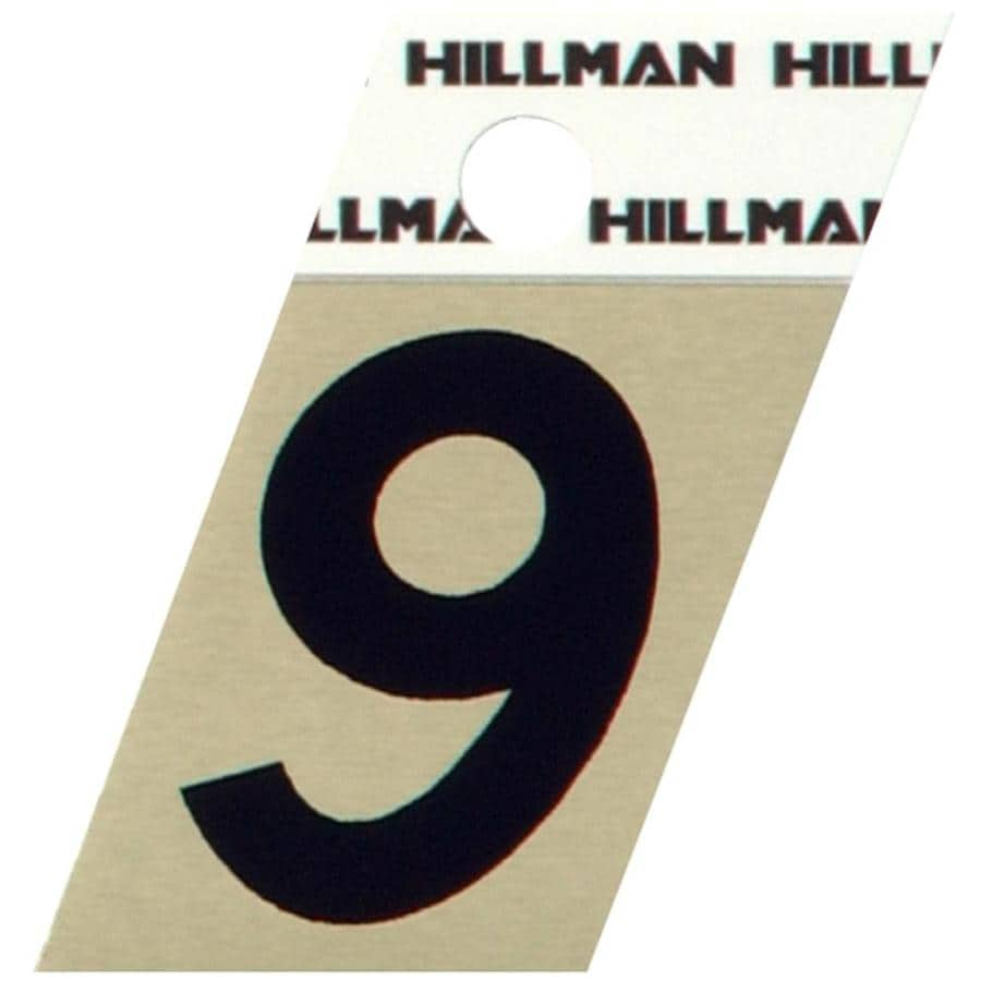 Hillman 1.5-in Black House Number #9