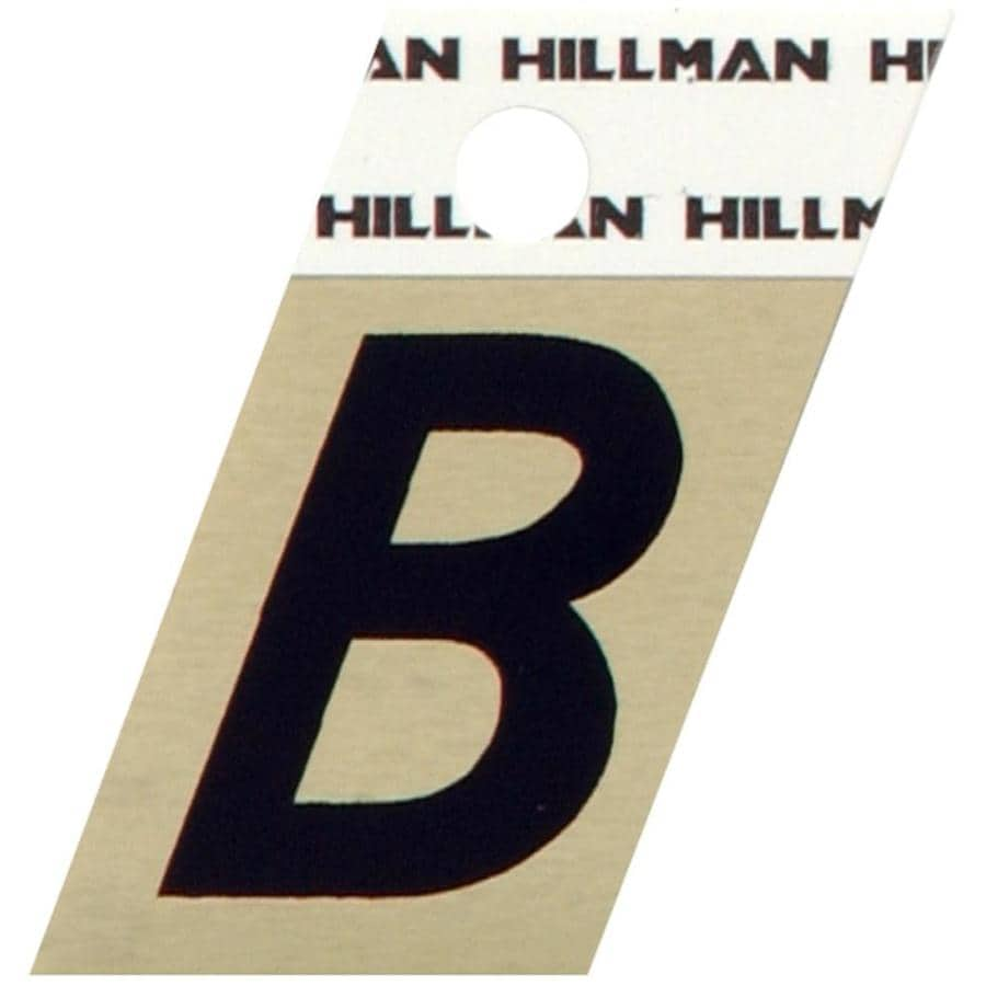 The Hillman Group 1.5-in Black House Letter B