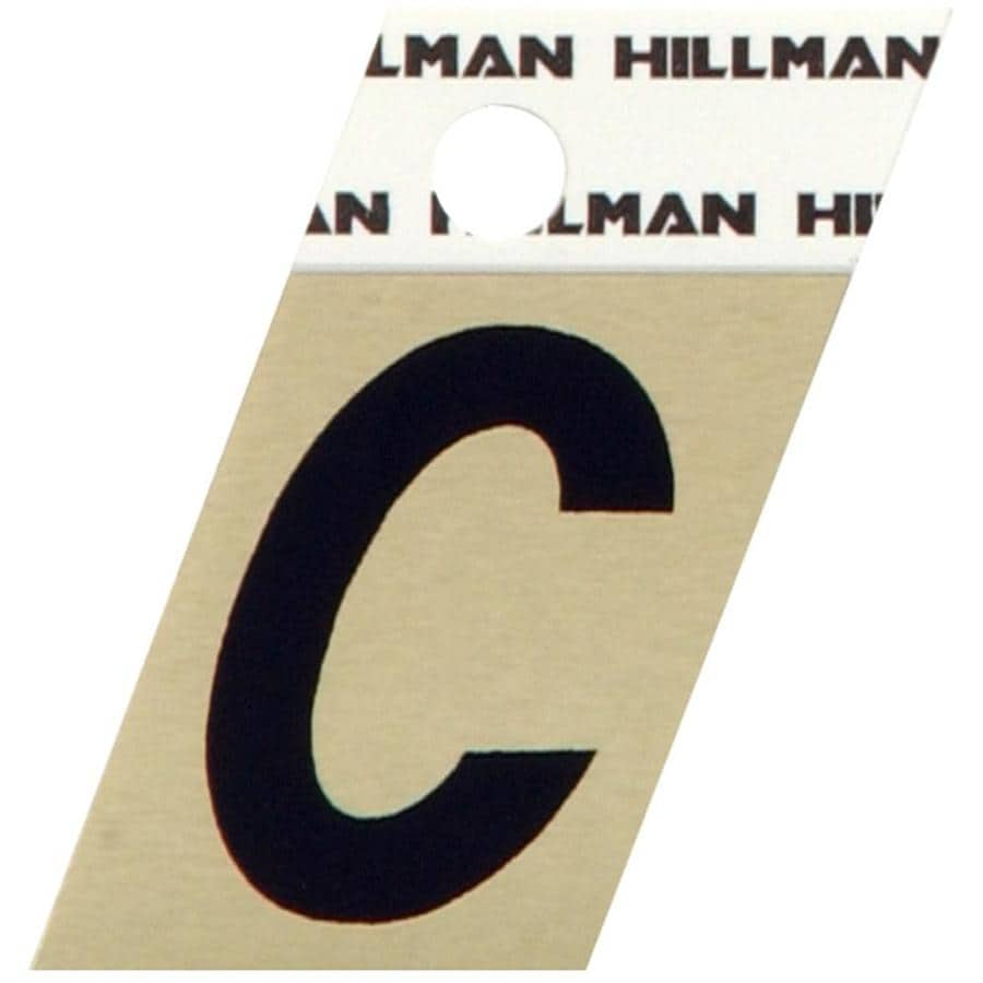 The Hillman Group 1.5-in Black House Letter C