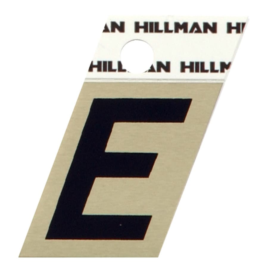 Shop hillman 15 in reflective black house letter e at for House letters lowes