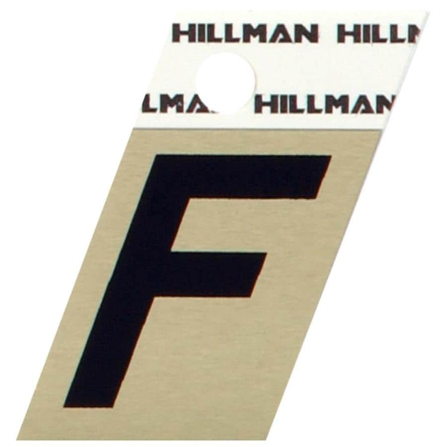 Hillman 1.5-in Aluminum House Letter F