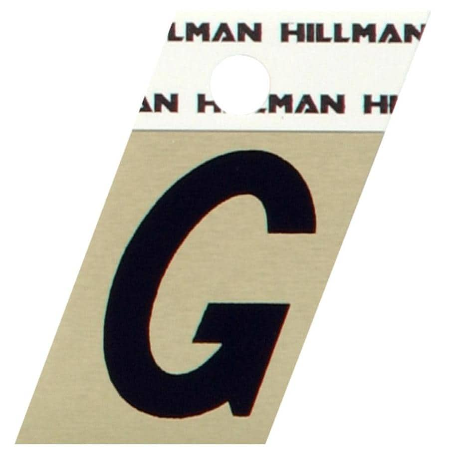 The Hillman Group 1.5-in Black and Gold House Letter G