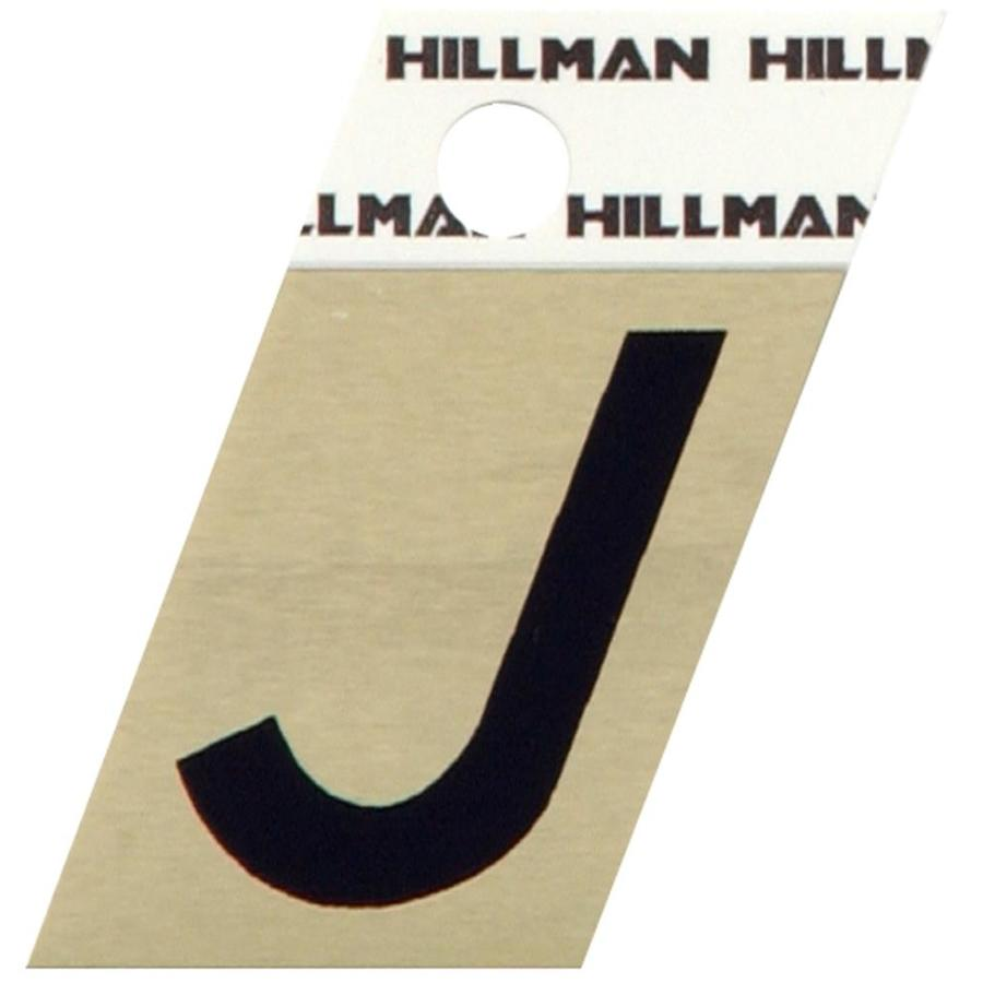 The Hillman Group 1.5-in Black House Letter J