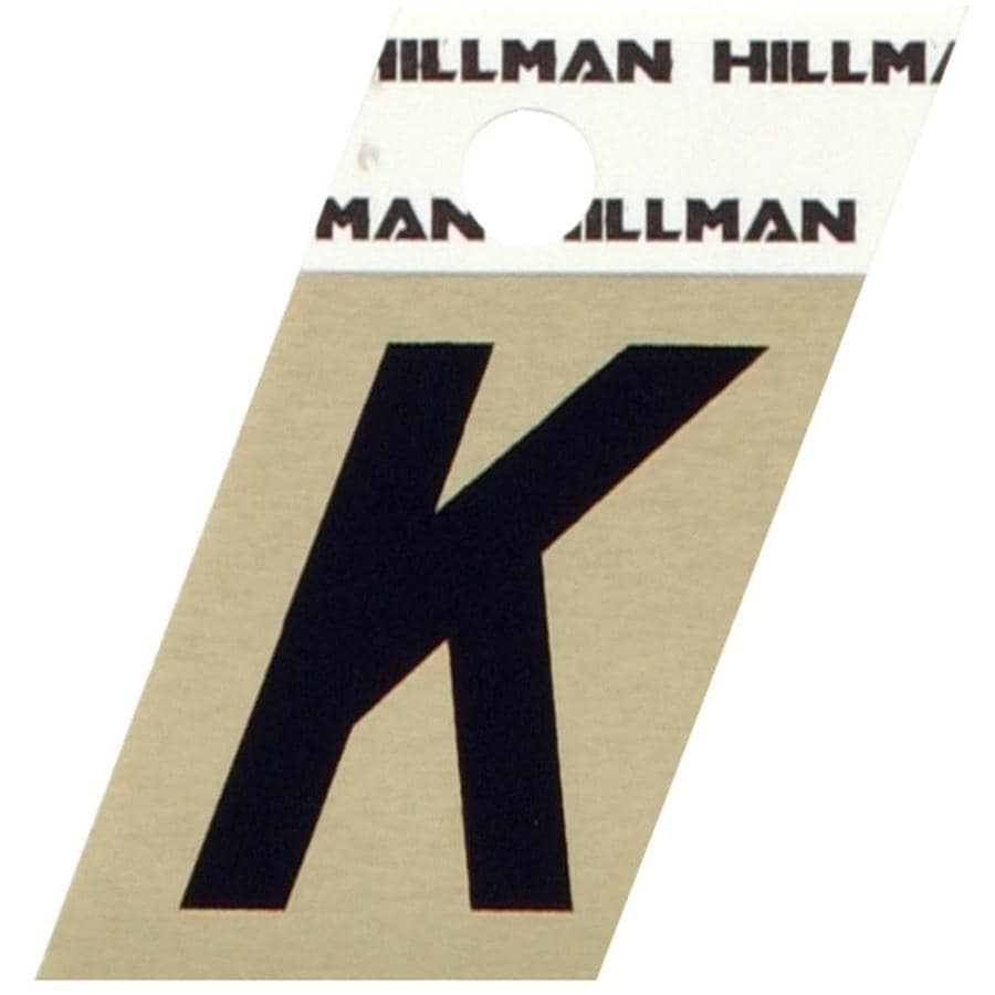 The Hillman Group 1.5-in Black and Gold House Letter K