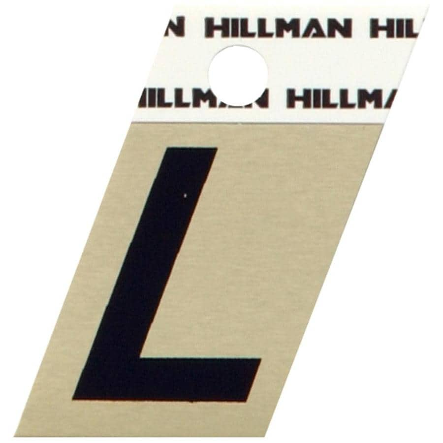 The Hillman Group 1.5-in Black and Gold House Letter L