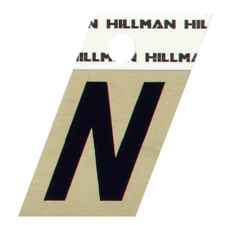 Shop hillman 15 in reflective black house letter n at for House letters lowes