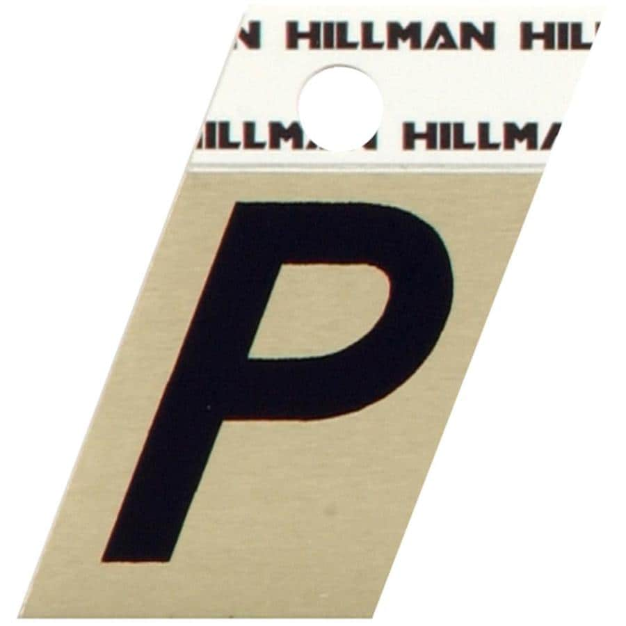 Hillman 1.5-in Black and Gold House Letter P