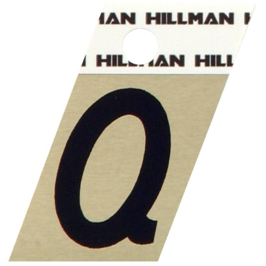 The Hillman Group 1.5-in Black and Gold House Letter Q