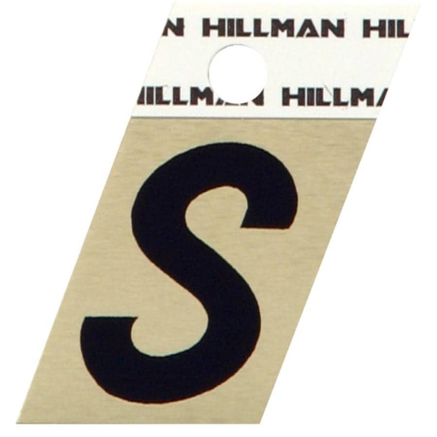 Hillman 1.5-in Black and Gold House Letter S