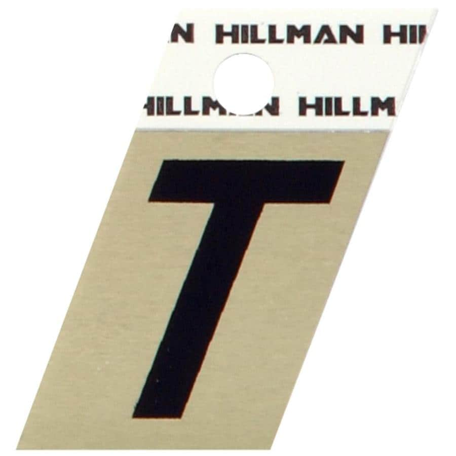 Hillman 1.5-in Black and Gold House Letter T