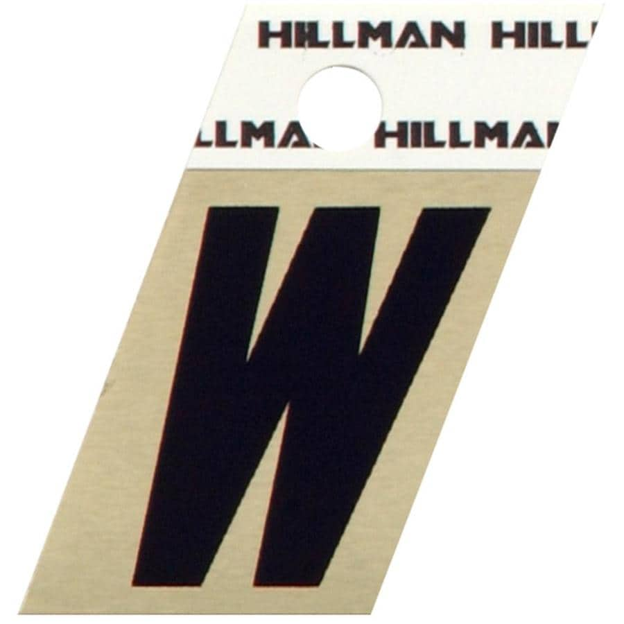 Hillman 1.5-in Black and Gold House Letter W