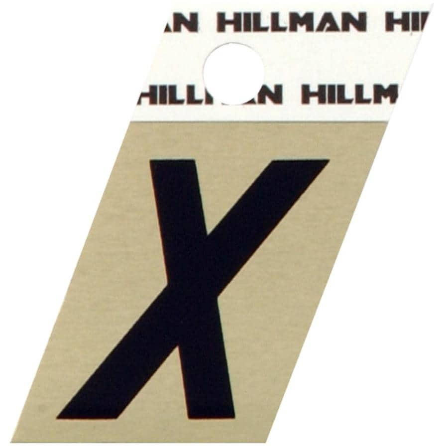 The Hillman Group 1.5-in Black and Gold House Letter X